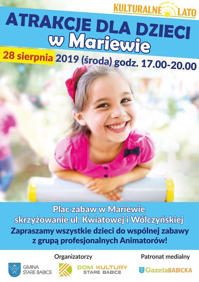 Atrakcje dla dzieci w Mariewie